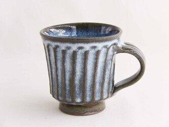 しのぎ手マグカップ(白わら灰)の画像