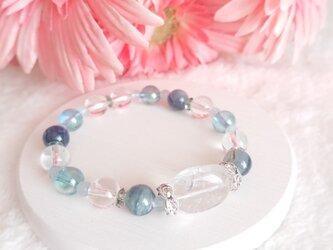 青空と海の天然石ブレスの画像