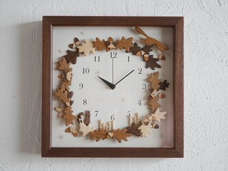 box clock オークの森(枠材:ウォールナット)の画像