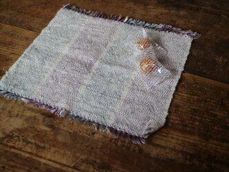 コットンリネンミニハンカチ 手織りの画像