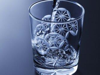 「縁起グラス」東京切子(花切子)ロックグラス 菊亀甲 ~きくきっこう~の画像