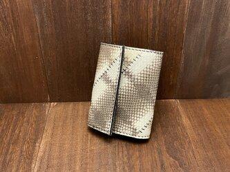 【金運アップに!】エラブウミヘビ使用のカードサイズミニ財布の画像