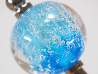 しゅわしゅわとんぼ玉のかんざし 水色✕青の画像