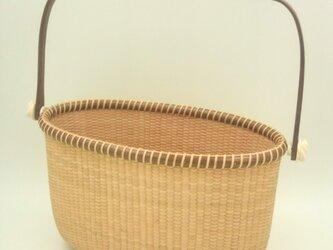 ナンタケットバスケット( トート型 10インチS・木製ハンドル)の画像