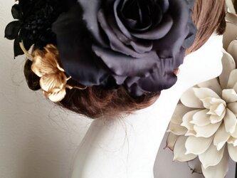 華麗 ローズと紫陽花の髪飾り15点Set No794の画像