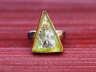古代スタイル*ローマンガラス 指輪*8号 SVの画像