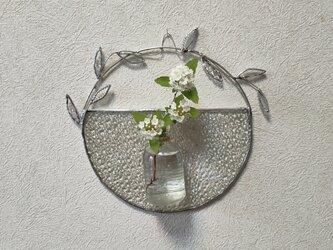 ステンドグラスの壁飾り(丸型)の画像