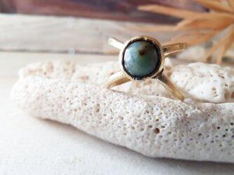【7号】 turquoise brass ringの画像