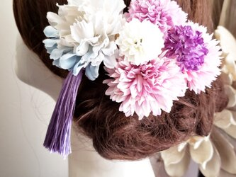 艶姫 パープル系 Cuteな髪飾り7点Set No795の画像