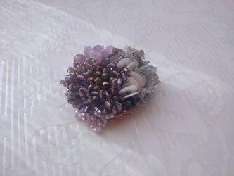#50 刺繍ブローチ 花束の画像