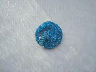 #52  刺繍ブローチ 波紋の画像