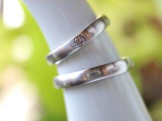 天然ピンクダイヤモンド/ペアリングの画像