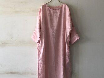 ドルマンスリーブワンピース*lithuanian linen さくらピンク【受注生産品】の画像
