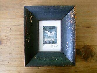 ミニ銅版画『夜ハト』の画像