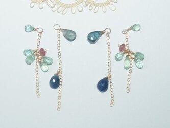 K様追加料金*SpringHappyBag*春に似合うブルーがイメージのイヤリングの画像