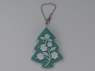 クリスマスツリーのバッグチャームの画像