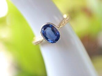 非加熱/ブルーサファイヤ指輪の画像