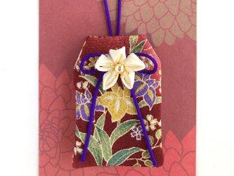 (花菖蒲)元巫女が作る花のお守り袋の画像