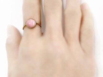 一点もの k18 Candy Pink Opal リング No.4/ 受注制作の画像