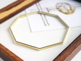 八角形真鍮バングルの画像