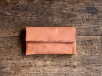 《N様オーダー》-souple style- long wallet salmonの画像