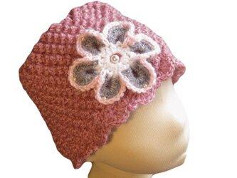 ポコポコ編地がかわいい帽子の画像