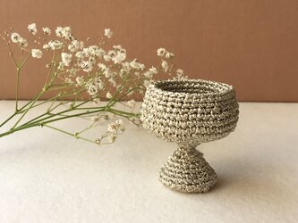 knit glass / ゴールドの画像