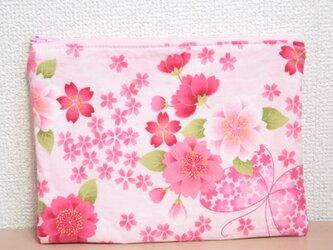 ファスナーポーチ #015JS桜と蝶々(ピンク) Family Tiesの画像