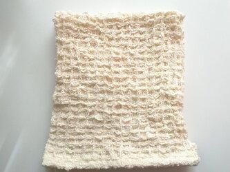 手織りハンカチ ふわっふわなワッフル織りハンカチ~コットン の画像