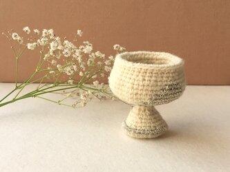 knit glass/ ホワイト ゴールドの画像
