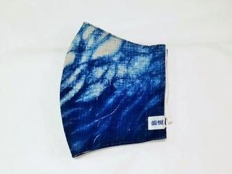藍染め・立体布マスク(男女兼用)の画像