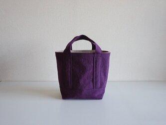 TOTE BAG -bicolor- (S) / grape × pinkbeigeの画像