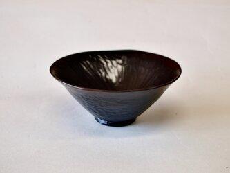 朝顔形茶椀「黒花」の画像