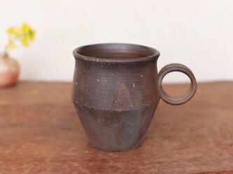 備前焼 コーヒーカップ(野草) c9-042の画像