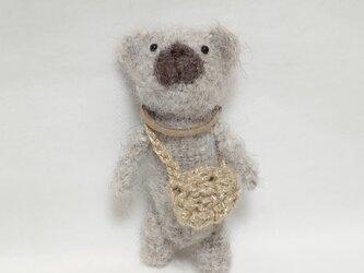編みぐるみベア(アルパカ毛糸)の画像