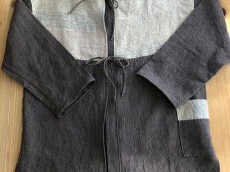 麻のシャツジャケットAの画像