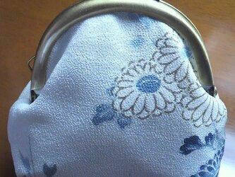 着物生地のがま口財布の画像