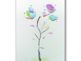 「慈母を懐(おも)う日」花 ほっこり癒しのイラストポストカード2枚組 No.1334の画像