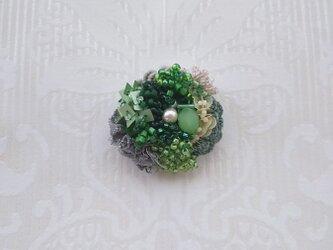 #53 刺繍ブローチ 花束の画像