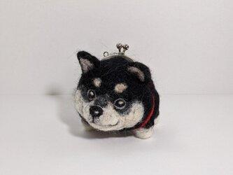 gamainu ※黒柴犬がま口の画像