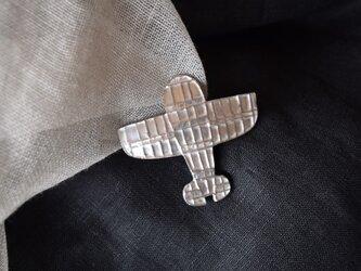 ブローチ(銀彩)飛行機-2の画像