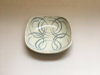 スリップ模様 角丸四方皿の画像