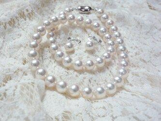 あこや花珠真珠セット (ネックレス ・イヤリングorピアスセット)(パールネックレス)の画像