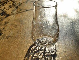 無色透明のグラス - 「KAZEの肌 」#357・ 高さ12cm●【 1点限定制作 】の画像