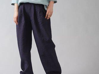 【wafu】超高密度リネン 2タック ボールパンツ 男女兼用 やや薄地 60番手/黒紅色(くろべにいろ) b010i-kbi1の画像