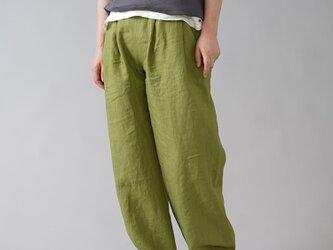【wafu】超高密度リネン 2タック ボールパンツ 男女兼用 やや薄地 60番手/苔色(こけいろ) b010i-kki1の画像