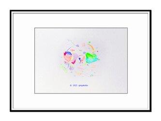 「ゴロンと横になったら見えた景色」 ほっこり癒しのイラストA4サイズポスター No.778の画像