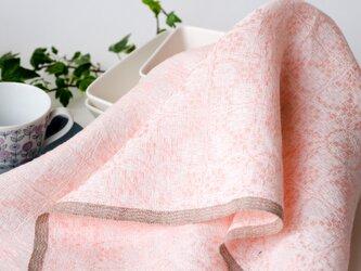 手織りリネンクロス【L-Dräll*04】の画像
