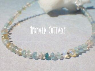 *sv925*Opal with Romanglass & Silver Bracelet  (S) アジャスターの画像