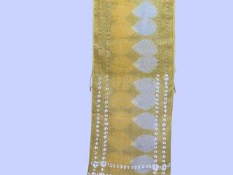 縦横両サイド透かし織り 麻ストールの画像